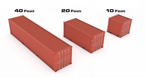 Dimensions tailles containers